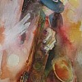 Musicians music instruments and dancers - Art Group
